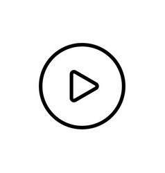 line video play icon on white background vector image