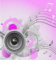 loudspeaker background vector image