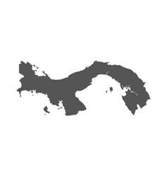 panama map black icon on white background vector image