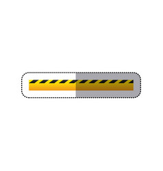 sticker striped hazard tape line construction vector image vector image