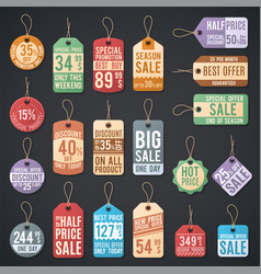 vintage free price tag web collection vector image vector image