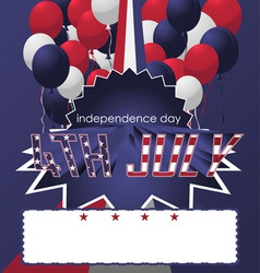 4th of july poster card vector image