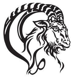 capricorn head tattoo vector image vector image