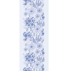 Evening garden vertical seamless pattern vector image