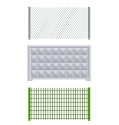 meallic net and concrete fence vector image vector image