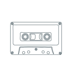 audio cassette tape isolated on white background vector image