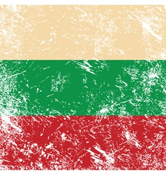 Bulgaria retro flag vector image