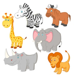 Cartoon african animals vector image
