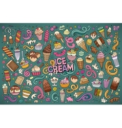 Colorful hand drawn doodle cartoon set of vector image vector image