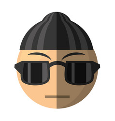 criminal emoticon cartoon design vector image