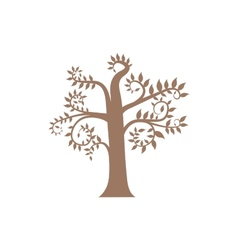 Squiggles brown tree vector image vector image