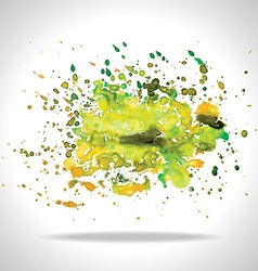 Watercolor banner vector image vector image
