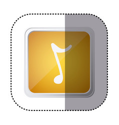 Yellow symbol music sign icon vector