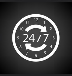 24 hour icon vector