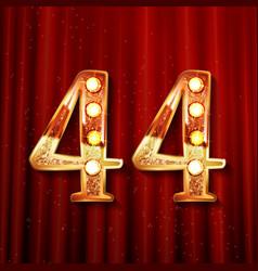 44 anniversary elegance gold logo vector