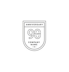 90 years anniversary celebration your company vector