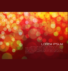 abstract color bokeh light and text on red night vector image vector image