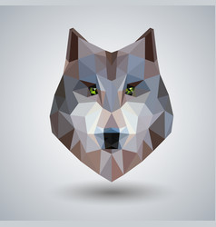 Abstract polygonal tirangle animal wolf hipster vector