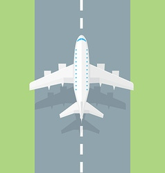 Airplane runway Airplane trendy icon vector
