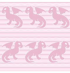 badragon seamless pattern vector image