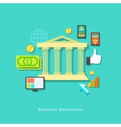 Banking Solution Concept vector image