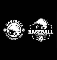baseball professional team badge logo emblem vector image