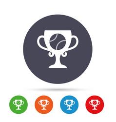 Baseball sign icon winner award cup symbol vector