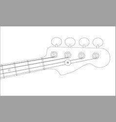 Bass headstock outline vector