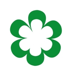 Beutiful green flower isolated icon design vector