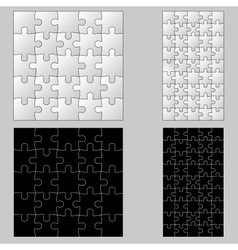 Black anb white puzzles vector image