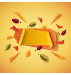 Blank yellow and orange autumn banner vector