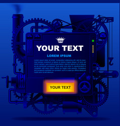 Blue complex fantastic machine vector