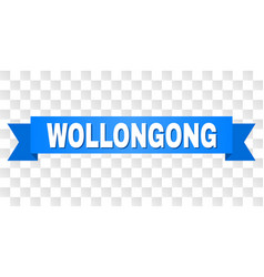blue stripe with wollongong title vector image