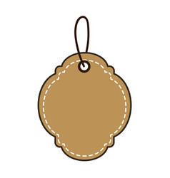 Brown decoration label design ornament vector