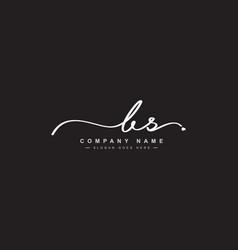Bs initial letter logo handwritten signature logo vector