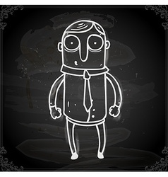 Business Man Drawing on Chalk Board vector image