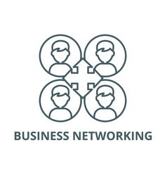 business networking line icon business vector image