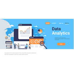 business people graph diagram finance data vector image