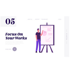 Business project presentation website landing page vector