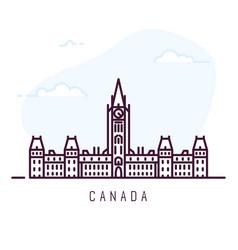 canada line city vector image