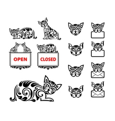 Cat Pattern Ornament Decoration vector image