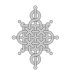 Celtic knot - single chain - wand top rod sides vector