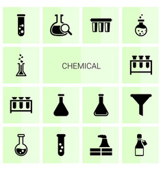 Chemical icons vector