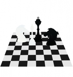 chess on a board vector image