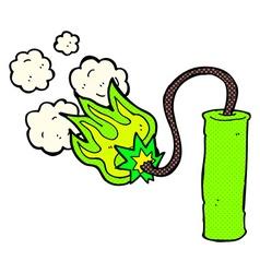 comic cartoon dynamite vector image