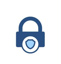 defense guard lock protect security shield icon vector image
