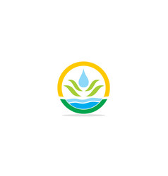 droplet eco nature logo vector image
