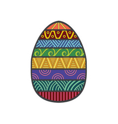 easter egg colorful vector image