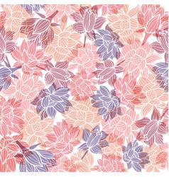 elegant waterlilies or lotus flowers with vector image