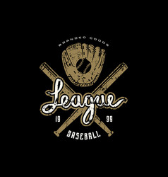 emblem of campus baseball team vector image